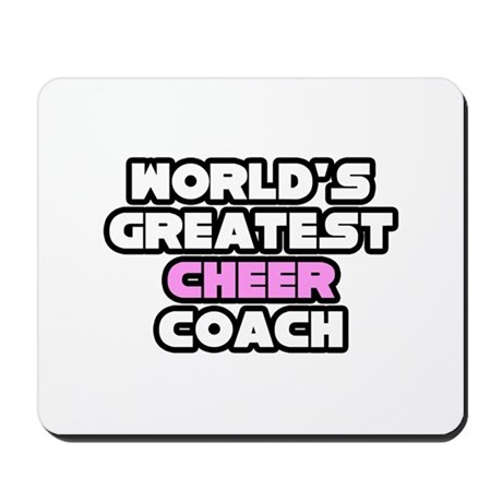 """Greatest Cheer Coach"" Mousepad"