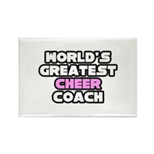 """Greatest Cheer Coach"" Rectangle Magnet"