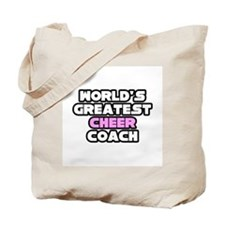 """""""Greatest Cheer Coach"""" Tote Bag"""