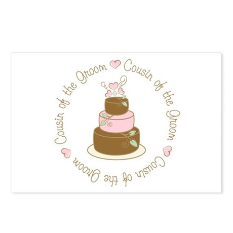 Cousin of the Groom Cake Postcards (Package of 8)