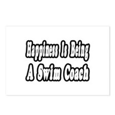 """Happiness: Swim Coach"" Postcards (Package of 8)"