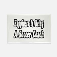 """""""Happiness: Soccer Coach"""" Rectangle Magnet"""