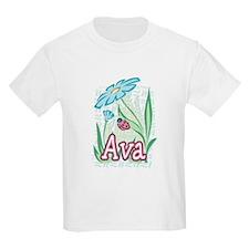Ava Ladybug Flower T-Shirt