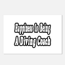 """Happiness: Diving Coach"" Postcards (Package of 8)"