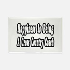 """Happiness: Cross Country"" Rectangle Magnet (10 pa"
