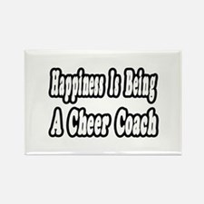 """""""Happiness: Cheer Coach"""" Rectangle Magnet (10 pack"""