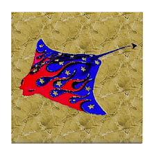Manta Ray Tile Coaster