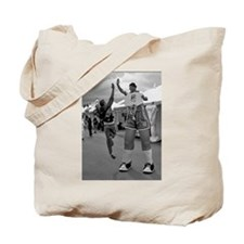 Funny Black white sports photography Tote Bag