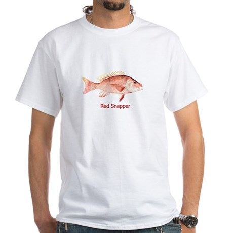 Red Snapper (titled) White T-Shirt