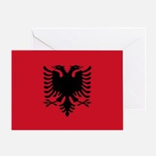 Albanian Flag Greeting Card