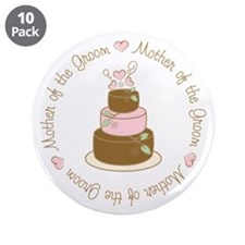 """Mother of the Groom Cake 3.5"""" Button (10 pack)"""