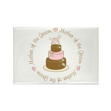 Mother of the Groom Cake Rectangle Magnet (10 pack
