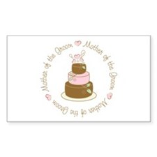 Mother of the Groom Cake Rectangle Sticker 10 pk)