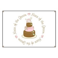 Niece of the Groom Cake Banner
