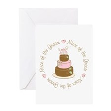 Niece of the Groom Cake Greeting Card
