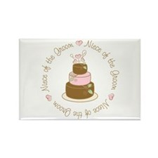 Niece of the Groom Cake Rectangle Magnet