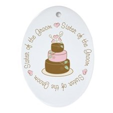Sister of the Groom Cake Oval Ornament
