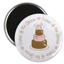 "Sister of the Groom Cake 2.25"" Magnet (10 pack)"