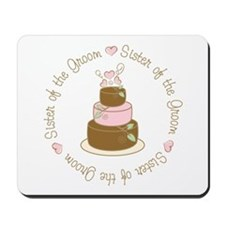 Sister of the Groom Cake Mousepad