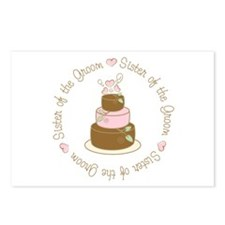 Sister of the Groom Cake Postcards (Package of 8)