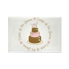 Sister of the Groom Cake Rectangle Magnet