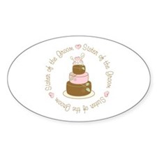 Sister of the Groom Cake Oval Decal