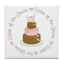 Sister of the Groom Cake Tile Coaster