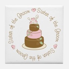Sister of the Groom Cake Tile Coaster