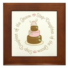 Step-Daughter of Groom Cake Framed Tile