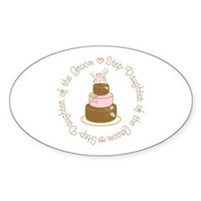 Step-Daughter of Groom Cake Oval Decal