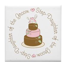 Step-Daughter of Groom Cake Tile Coaster