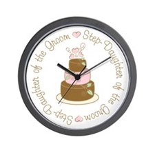 Step-Daughter of Groom Cake Wall Clock