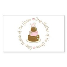 Step-Mother of the Groom Cake Rectangle Sticker 1