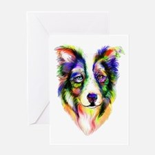Bright Border Collie Greeting Card