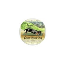 Yoga Down Dog Dachshund Mini Button