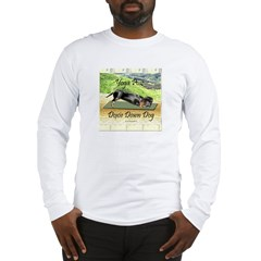 Yoga Down Dog Dachshund Long Sleeve T-Shirt