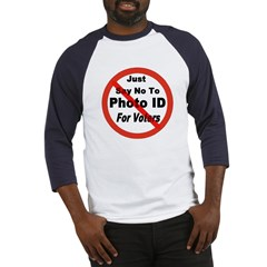 Just Say No To Photo ID For V Baseball Jersey