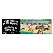A Day at the Dog Park Bumper Bumper Sticker
