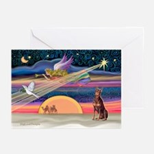 XmasStar/Dobie (rd) Greeting Cards (Pk of 10)