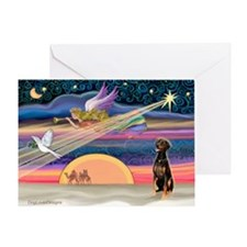 XmasStar/Dobie (nat) Greeting Card