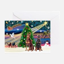 XmasMagic/2 Dobies (P3) Greeting Cards (Pk of 20)