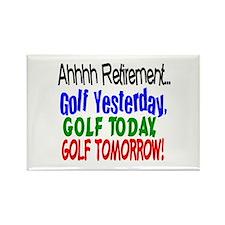 Ahhh retirement golf Rectangle Magnet