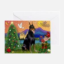 Dobie Xmas Fantasy Greeting Card