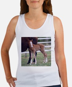 Trying out her Chestnut Legs Women's Tank Top