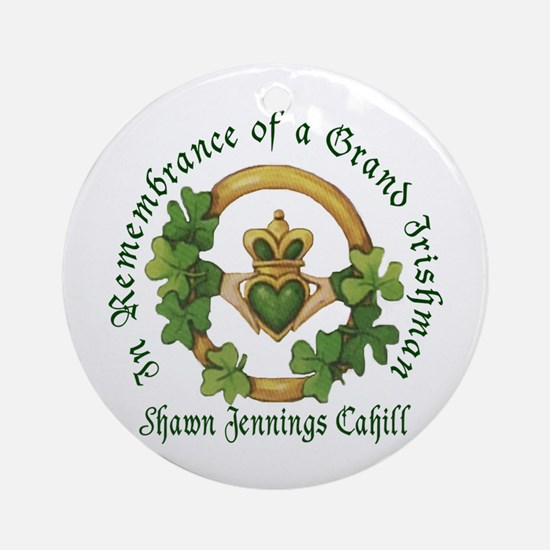 Shawn Jennings Cahill Ornament (Round)