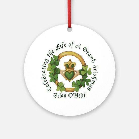 Brian O'Neill Memorial Ornament (Round)