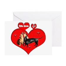 We Love U Greeting Card