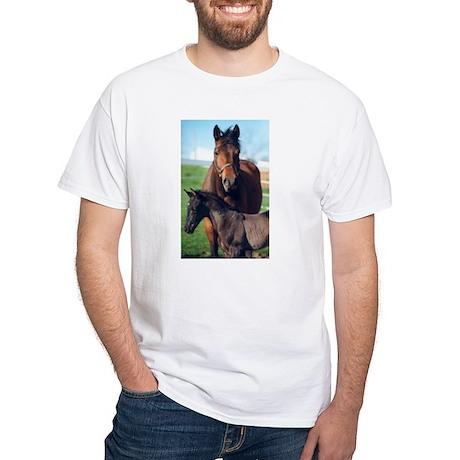 Indigo and Rainier White T-Shirt