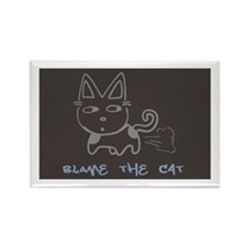 Blame the Cat Rectangle Magnet