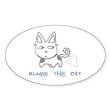 Blame the Cat Oval Decal